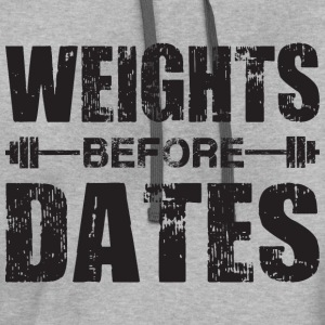 Weights Before Dates T-Shirts - Contrast Hoodie