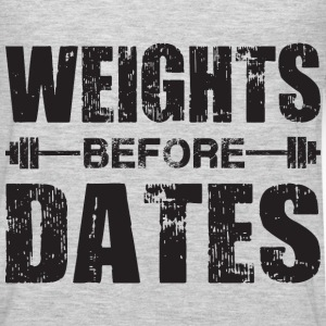 Weights Before Dates Tank Tops - Men's Premium Long Sleeve T-Shirt