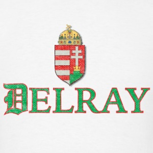 Delray Detroit Hungarian Hungary Flag Hoodies - Men's T-Shirt