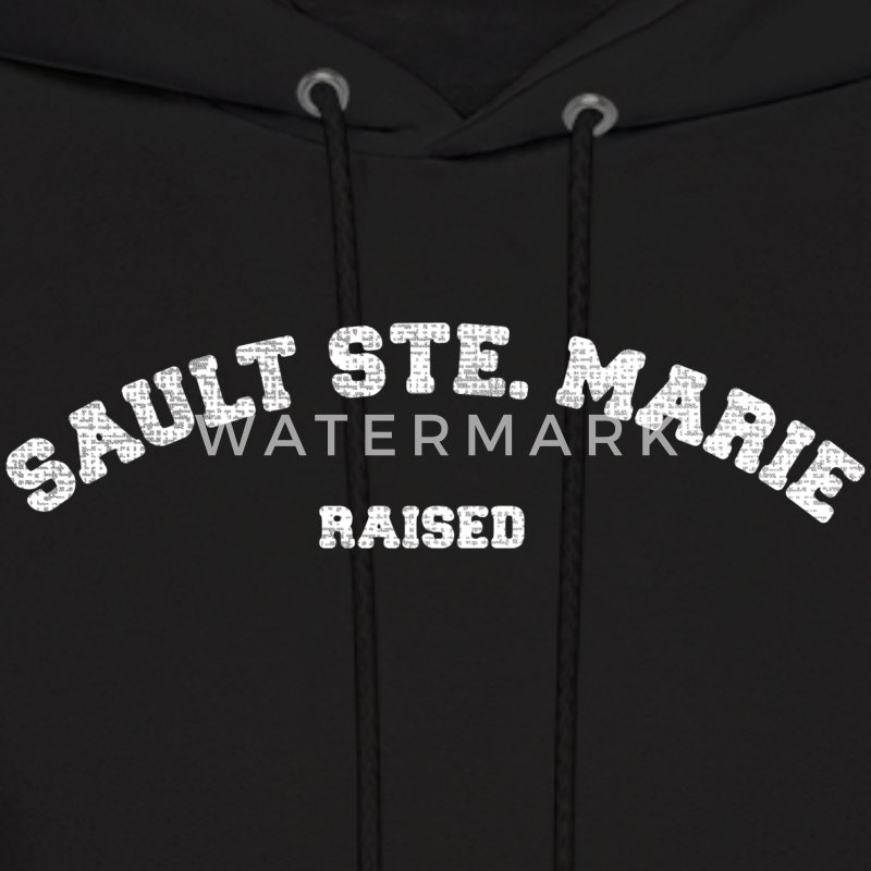 Sault Ste. Marie Michigan Raised Hoodies - Men's Hoodie