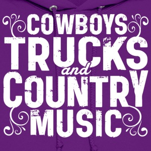 COWBOYS TRUCKS COUNTRY MUSIC - Women's Hoodie