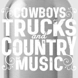 COWBOYS TRUCKS COUNTRY MUSIC - Water Bottle