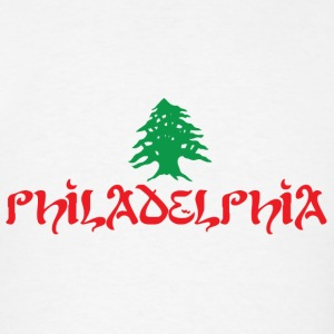 Philly Philadelphia Lebanese Flag Hoodies - Men's T-Shirt