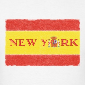 New York Spanish Flag Hoodies - Men's T-Shirt
