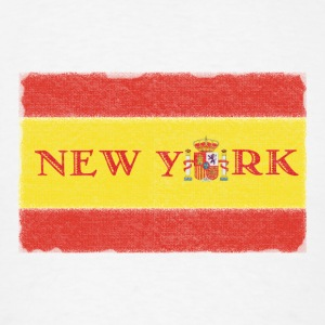 New York Spanish Flag Long Sleeve Shirts - Men's T-Shirt