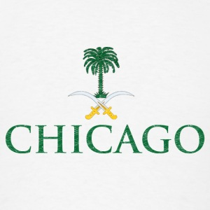Chicago Saudi Arabia Flag Long Sleeve Shirts - Men's T-Shirt