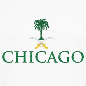 Chicago Saudi Arabia Flag Hoodies - Men's Premium Long Sleeve T-Shirt