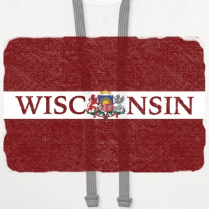 Wisconsin Latvia Flag T-Shirts - Contrast Hoodie