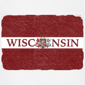 Wisconsin Latvia Flag Hoodies - Adjustable Apron