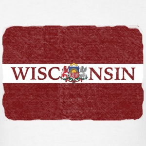 Wisconsin Latvia Flag Hoodies - Men's T-Shirt