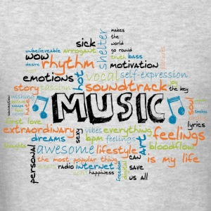 MUSIC Long Sleeve Shirts - Men's T-Shirt