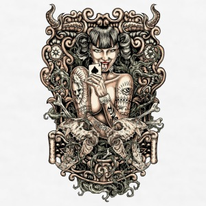 Tattooed evil Girl Mugs & Drinkware - Men's T-Shirt