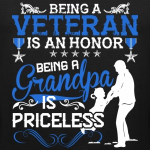 Being A Veteran Is An Honor Being A Grandpa - Men's Premium Tank