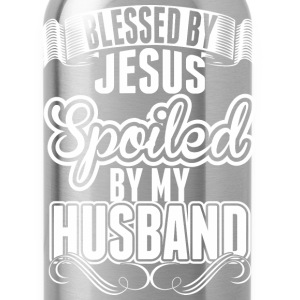 Blessed By The Jesus Spoiled By My Husband - Water Bottle