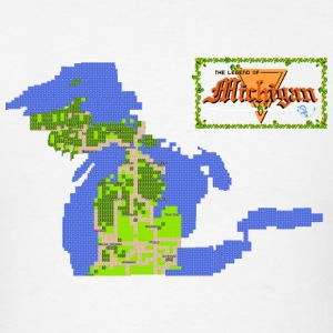 Classic Legend of Michigan 8bit Hoodies - Men's T-Shirt