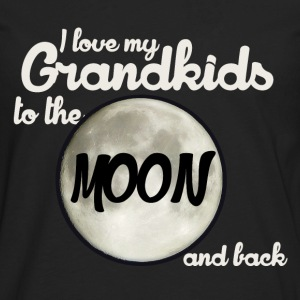I love my Grandkids to the MOON and back - Men's Premium Long Sleeve T-Shirt