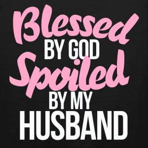 Blessed by GOD spoiled by my husband - Men's Premium Tank