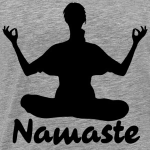 Namaste Yoga Meditation  - Men's Premium T-Shirt