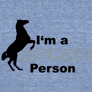 Horse person Tanks - Unisex Tri-Blend T-Shirt by American Apparel