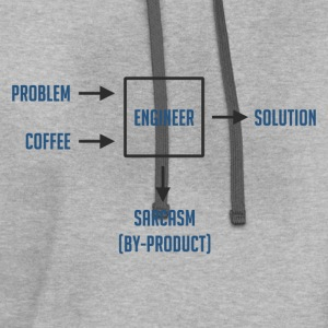 Engineering Sarcasm By-product T-Shirts - Contrast Hoodie