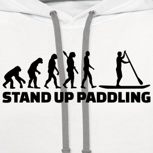 Evolution Stand up paddling T-Shirts - Contrast Hoodie