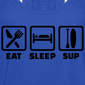 Eat Sleep SUP Kids' Shirts - Women's Flowy Tank Top by Bella