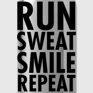 Run, Sweat, Smile, Repeat T-Shirts - Water Bottle