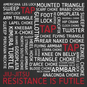 Jiu-Jitsu Resistance is Futile - White Text - Adjustable Apron
