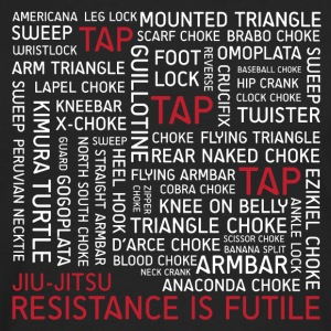 Jiu-Jitsu Resistance is Futile - White Text - Men's Premium Long Sleeve T-Shirt
