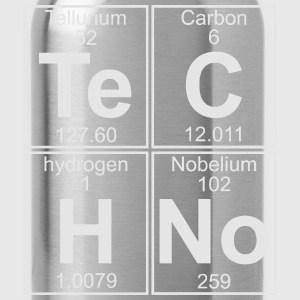 TECHNO PERIODIC TABLE T-Shirts - Water Bottle