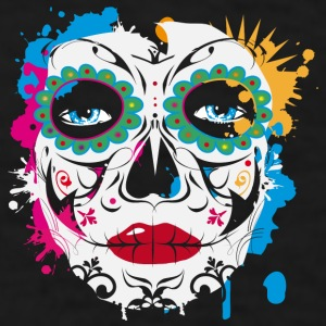 Sugar Skull Makeup Graffiti Mugs & Drinkware - Men's T-Shirt