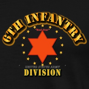 6th Infantry Division -  Red Star Hoodies - Men's Premium T-Shirt