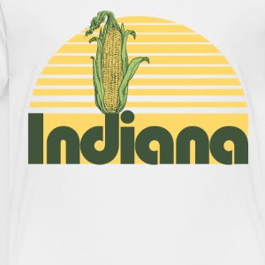 Retro Indiana girl hoosier - Toddler Premium T-Shirt