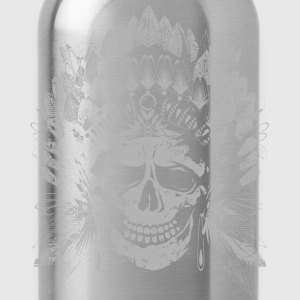 Chief Skull Gray T-Shirts - Water Bottle