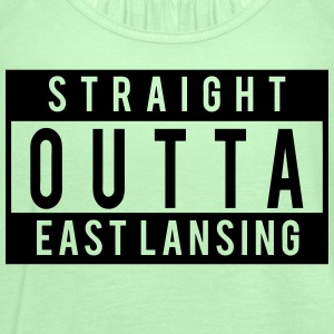 Straight Outta East Lansing T-Shirts - Women's Flowy Tank Top by Bella