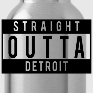 Straight Outta Detroit  T-Shirts - Water Bottle