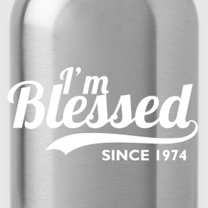 I'm blessed since 1974 - Birthday Thanksgiving - Water Bottle