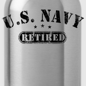 US Navy Retired T-Shirts - Water Bottle