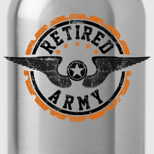 Retired Army T-Shirts - Water Bottle