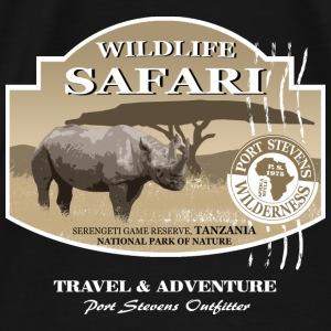 Rhino Safari Wildlife Hoodies - Men's Premium T-Shirt
