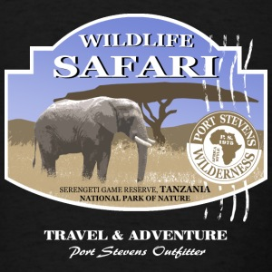 Elephant Safari Wildlife Tanks - Men's T-Shirt