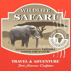 Elephant Safari Wildlife T-Shirts - Tote Bag