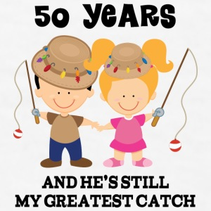 50th Anniversary Fishing Couple Mugs & Drinkware - Men's T-Shirt