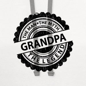 Grandpa-The Man The Myth The Legend T-Shirts - Contrast Hoodie