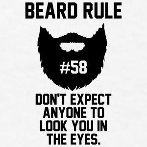Beard Rule 58 Accessories - Men's T-Shirt