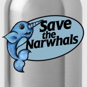 Save the narwhals  - Water Bottle