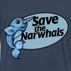 Save the narwhals  - Men's Premium Long Sleeve T-Shirt