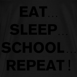 School Repeat Hoodies - Men's Premium T-Shirt