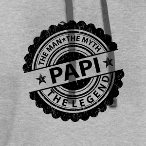 Papi-The Man The Myth The Legend T-Shirts - Contrast Hoodie