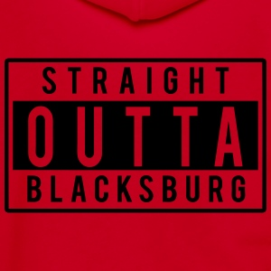 Straight Outta Blacksburg T-Shirts - Unisex Fleece Zip Hoodie by American Apparel